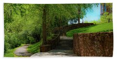 Beach Towel featuring the photograph Stairway To Carlyle by Lora J Wilson