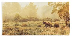 Stallion Homestead Beach Towel