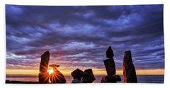 Standing Stone 1 Halibut Pt.  Beach Towel