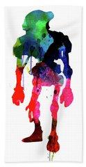 Star Droid Watercolor 1 Beach Towel