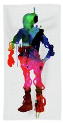 Star Droid Watercolor 2 Beach Towel