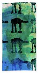 Star Ground Warrior Collage Watercolor 1 Beach Towel