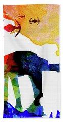 Star Ground Warrior Watercolor Beach Towel