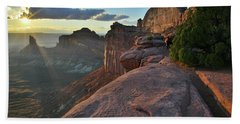 Star Of The Show In Canyonlands Np Beach Towel