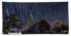 Star Trails Over Bonetti Ranch Beach Towel