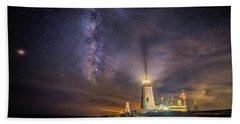 Starry Night At Pemaquid Beach Towel