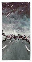 Starry Night Traffic Beach Sheet