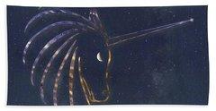Star Unicorn Beach Towel