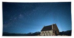 Stars And Midnight Blue Beach Towel