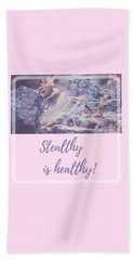 Beach Towel featuring the photograph Stealthy Is Healthy by Judy Kennedy