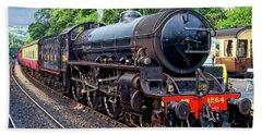 Steam Locomotive 1264 Nymr Beach Towel