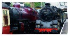 Steam Trains Beach Sheet