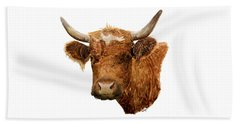 Steer Portrait - Barnyard Bunch Collection Beach Towel