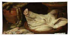 Still Life With Pig's Head, Pig's Knuckles And Sausage, 1650 Beach Towel