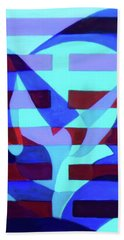 Beach Towel featuring the painting Still Point by Denise Weaver Ross