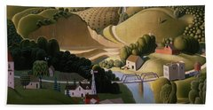 Stone City, 1930 Beach Towel