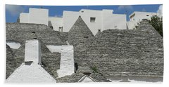Stone Coned Rooves Of Trulli Houses Beach Towel