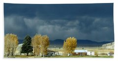 Beach Towel featuring the photograph Storm Brewing by Rosanne Licciardi