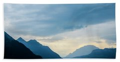 Storm Clouds On Lake Lucerne Beach Towel