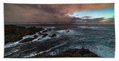 Storm Coastline Beach Towel