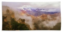 Storm In The Canyon Beach Towel