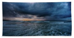 Stormy Morning Beach Towel