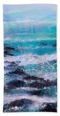 Stormy Sea With Breaking Waves  Beach Towel