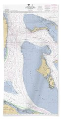 Straits Of Florida, Eastern Part Noaa Nautical Chart Beach Towel