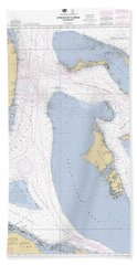 Straits Of Florids, Eastern Part Noaa Chart 4149 Edited. Beach Towel