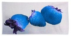 straw Berry Blues Beach Towel