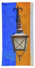 Street Lamp Of Obidos Beach Towel