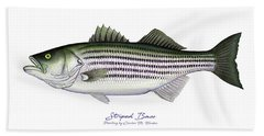 Striped Bass Beach Towel