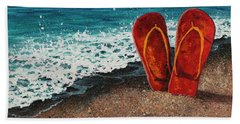 Beach Towel featuring the painting Stuck In The Sand by Darice Machel McGuire
