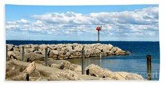 Sturgeon Point Marina On Lake Erie Beach Towel