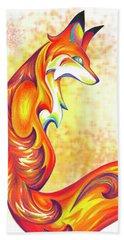 Stylized Fox I Beach Sheet