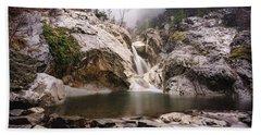 Beach Towel featuring the photograph Suchurum Waterfall, Karlovo, Bulgaria by Milan Ljubisavljevic
