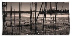 Beach Towel featuring the photograph Sulfur Field by Mae Wertz