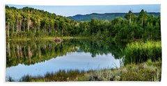 Beach Towel featuring the photograph Summer Cove At Ivie Pond by TL Mair
