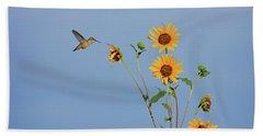 Summer Day Hummingbird Beach Towel