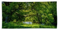 Summer Morning In The Park Beach Towel