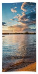 Beach Towel featuring the photograph Summer Shower  by Jeff Sinon
