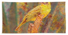 Summer Tanager Beach Towel