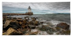 Summer Tides At Bug Light Beach Sheet