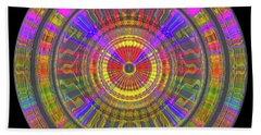 Beach Towel featuring the digital art Sun 02112019 by Visual Artist Frank Bonilla