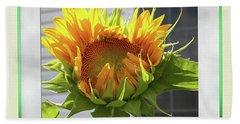 Sunflower Birthday Beach Towel