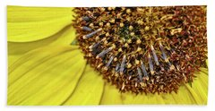 Sunflower Closeup Beach Sheet