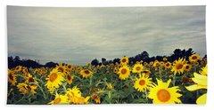 Sunflower Fields Beach Towel