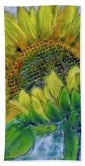 Sunflower Happiness Beach Sheet