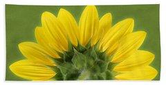 Sunflower Sunrise - Botanical Art Beach Sheet