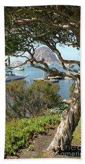Sunny Day At Morro Bay Beach Towel